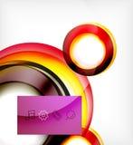 Идея проекта движения свирли вектора красочная Стоковые Фотографии RF