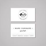 Идея проекта визитной карточки сувенирного магазина и сувениров Логотип сувенирного магазина с флагами с сердцами Год сбора виног Стоковая Фотография RF