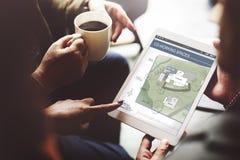 Идея проекта светокопии карты плана архитектуры рабочей зоны Co стоковая фотография