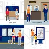 Идея проекта людей метро иллюстрация вектора