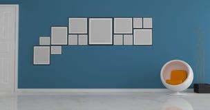 Идея рамки фото на стене Стоковые Фотографии RF