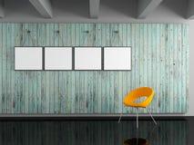 Идея рамки фото на стене Стоковое Изображение