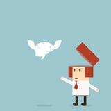 Идея свободы бизнесмена Стоковое фото RF