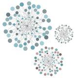 Идея сети абстрактная с линиями и кругами, концепцией соединения Стоковое Изображение
