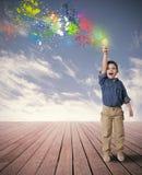 Идея счастливого ребенка Стоковые Изображения