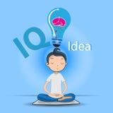 Идея счастливого раздумья бизнесмена хорошая Стоковое Изображение RF