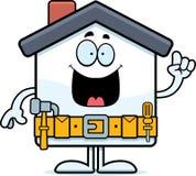 Идея улучшения дома шаржа иллюстрация штока