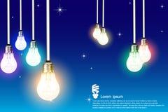 Идея электрических лампочек Стоковое Изображение