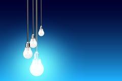 Идея электрических лампочек Стоковые Изображения RF