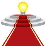 Идея электрической лампочки шага infographic Стоковая Фотография