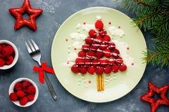 Идея для детей - рождественская елка еды потехи рождества поленики стоковое изображение