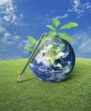 Идея для земли, элементов этого изображения поставленных NASA Стоковое Изображение