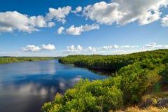 Идилличное шведское озеро Стоковая Фотография RF