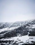 Идите снег на верхней части горы в национальном парке 2 ледника стоковые фото