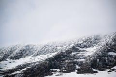 Идите снег на верхней части горы в национальном парке 3 ледника Стоковая Фотография