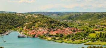 Идилличный ландшафт в Хорватии Стоковое Изображение