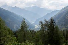 Идилличный высокогорный ландшафт на Австрии Стоковые Фото