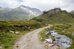 Идилличный высокогорный ландшафт на Австрии Стоковая Фотография RF