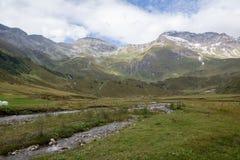 Идилличный высокогорный ландшафт на Австрии Стоковые Изображения RF