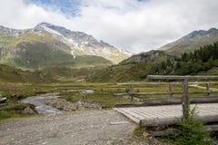 Идилличный высокогорный ландшафт на Австрии Стоковые Изображения
