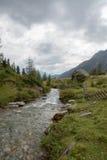 Идилличный высокогорный ландшафт на Австрии Стоковое Фото