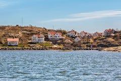 Идилличный остров на шведском westcoast Стоковое Фото
