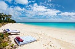 Идилличный пляж в Африке Стоковые Изображения