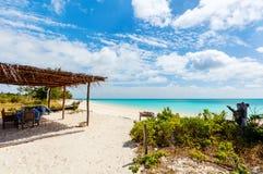 Идилличный пляж в Африке Стоковое Фото