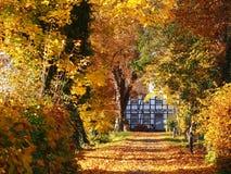 Идилличный сельский дом в Германии Стоковое фото RF
