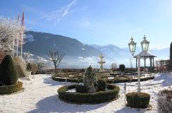 Идиллия озера гор. Zell am видит, Австрия. Стоковые Изображения RF