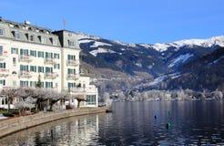 Идиллия озера гор. Zell am видит, Австрия. Стоковое Изображение