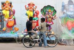 Идолы Ganesh для сбывания во время индусское festval Стоковое Фото