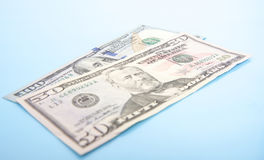 100 и 50 долларов Стоковая Фотография RF