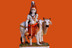 Идол лорда Shiva от мрамора Стоковые Фотографии RF