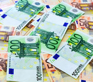 50 и 100 счетов евро Стоковое Фото