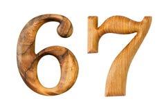 6 и 7 Сделанный от древесины Стоковое Изображение RF
