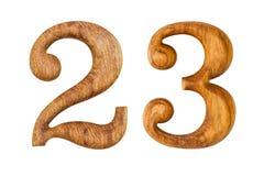 2 и 3 Сделанный от древесины Стоковое Изображение RF