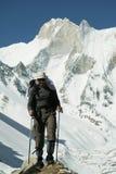 идти альпиниста Стоковые Фото