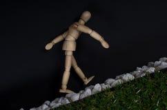 Идти вдоль следа осла Стоковая Фотография