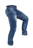 Идти голубых джинсов пустых людей Стоковые Фотографии RF