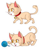 Идти и игра кота иллюстрация штока