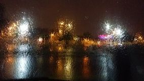 Идти дождь на моем окне Стоковые Фотографии RF