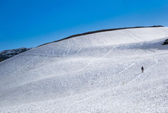 Идти снега на национальном парке ледника стоковые фотографии rf