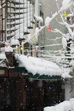 Идти снег в Стамбуле Стоковое фото RF