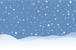 Идти снег Стоковое Изображение RF