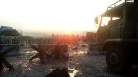 Идти толпы зомби ужаса Взгляд апокалипсиса, концепция перевод 3d Стоковое Фото