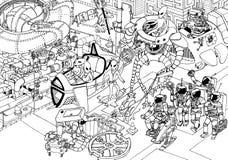 Идти улицы чужеземца (план) Стоковые Изображения RF