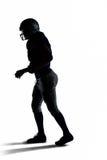 Идти футболиста силуэта американский Стоковая Фотография RF