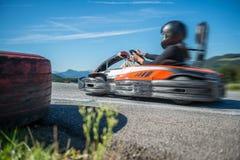 Идут гонки kart Стоковое Изображение