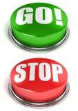 Идут кнопки стопа Стоковое Изображение RF